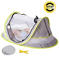 Baby Tent, Eip Portable Beach Pop Up BabiesTent, UPF 50+ Lightweight Sun Shelter Infant Mosquito Net Outdoor Travel Crib Bed