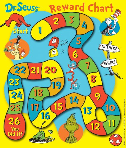 Eureka Dr. Seuss The Grinch Game Mini Reward Charts With Stickers, Package of 36 Eureka Mini