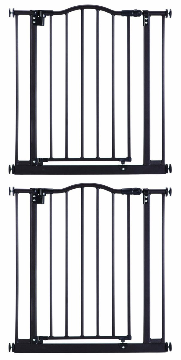 North States Portico Arch Metal Baby Child Pet Gate - Bronze | 4916 (2-Pack) by North States