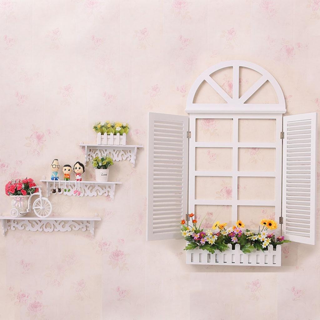 ヨーロッパスタイルの偽の窓の壁掛け - 地中海スタイルの牧歌的な壁の装飾、メーターボックスの装飾クリエイティブホーム、細工、実生活、3つの色のスタイルの様々な , extra large white window decoration on the band B079HPX6P5