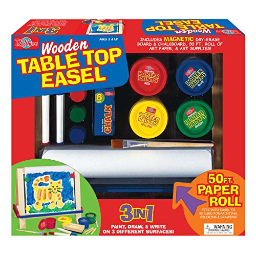 T.S. Shure Wooden Table Top Easel Playset