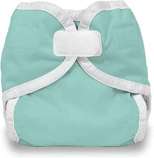 product image for Thirsties Hook and Loop Diaper Cover, Aqua, Newborn/Preemie