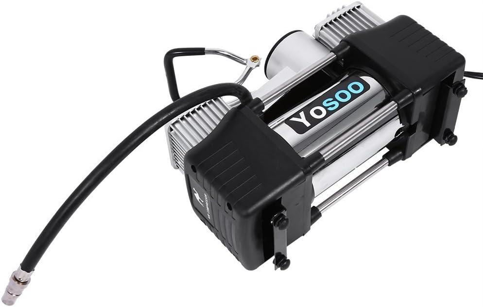 yosoo Mini Reifen Pumpe Kompressor 150PSI Portable Electric Air Kompressor Auto Motorrad Fahrrad Reifen Pumpe aufblasbar mit F/üllstandsanzeige DC 12/V