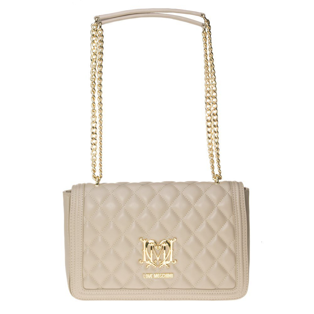 Love Moschino Quilted Chain Womens Handbag Natural