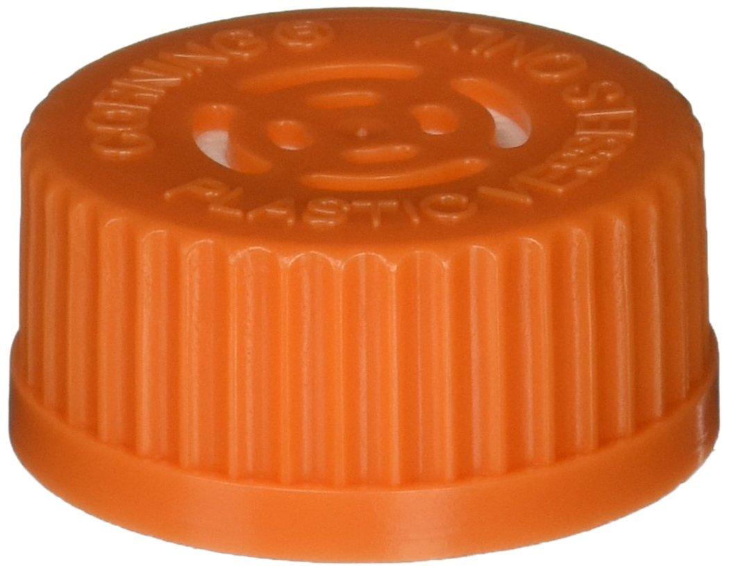 Corning 3567 Polyethylene Orange Disposable Vented Cap for GL45 Plastic Spinner Flasks, Sterile (Case of 4) by Corning