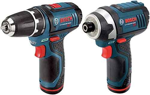 Bosch CLPK22-120-RT 12V Lithium-Ion 3 8 in. Drill Driver and Impact Driver Combo Kit Renewed
