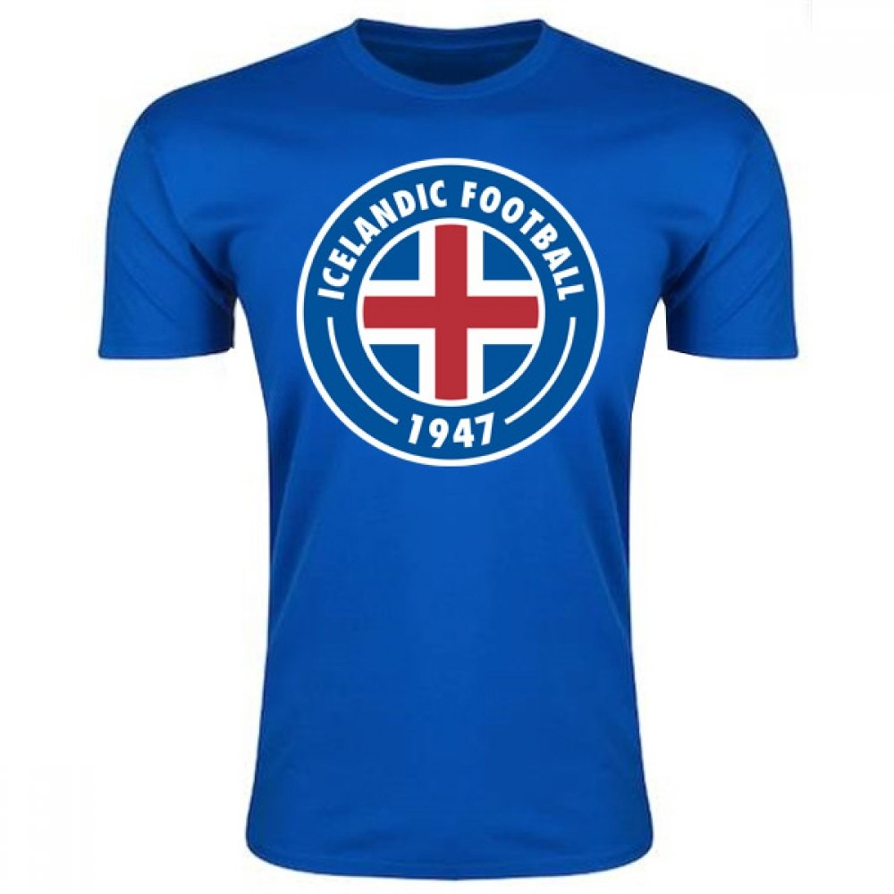 Iceland Core Logo T-Shirt (Blue) B078498XZ9 Small (34-36