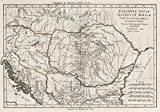 historic pictoric 1789 School Atlas | Pannoniae Daciae Illyrici et Mcesiae Tabula geographica | Antique Vintage Map Reprint