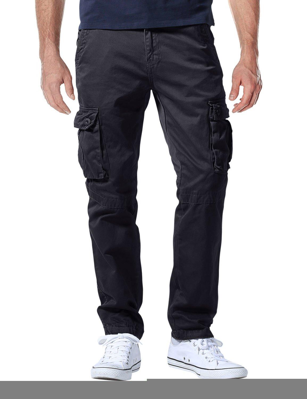 Match Men's Casual Wild Cargo Pants Outdoors Work Wear #6531(44,Grayish Black)
