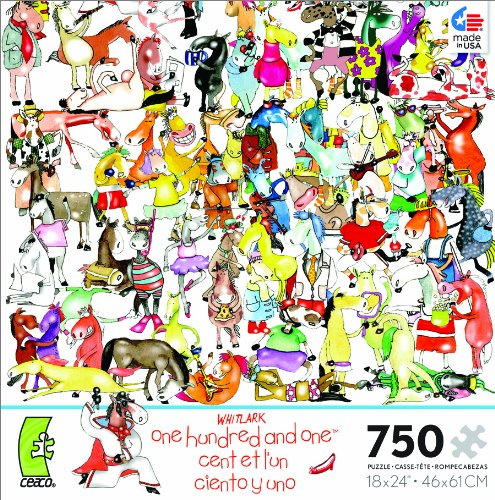 One One Hundred Dogs and a Cat by Whitlark 750 piece puzzle