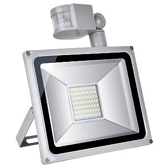 Yuanline 10W LED foco de luz blanca con detector de movimiento, bombillas LED ajustables,