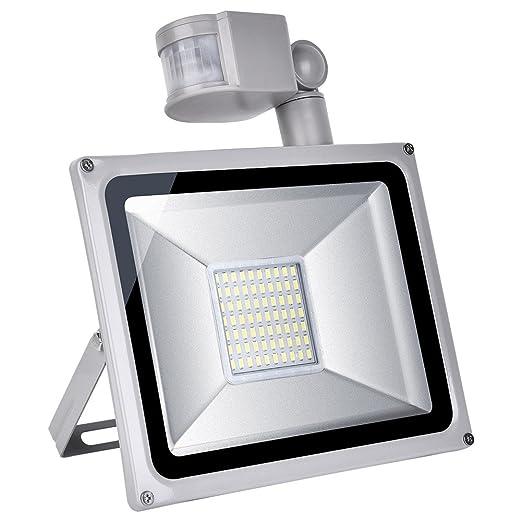 Yuanline 50W LED Proyector,el Detector de Sensor Movimiento ...