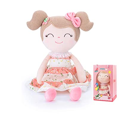 Conzy Stuffed Baby Doll Gifts for Girl Super Soft Buddy Cuddly Baby Girl Toy Gifts wtih Gift Bag 16.5 Inches in Standing (Spring Girl): Toys & Games
