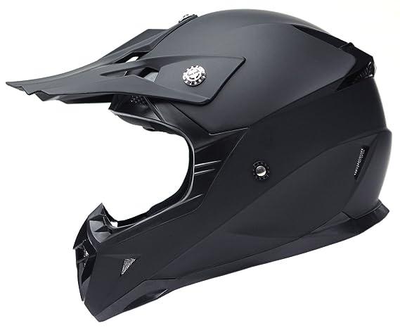 Amazon.es: YEMA Casco Motocross Eduro ECE Homologado YM-915 Casco de Moto Cross Integral para Mujer Hombre Adultos-Negro-M