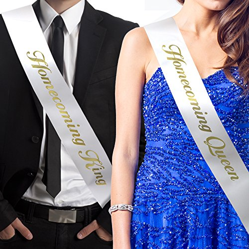 Amazon.com : RibbonsNow Homecoming King and Homecoming Queen Sash Set (King & Queen) - Made in The USA : Sports & Outdoors