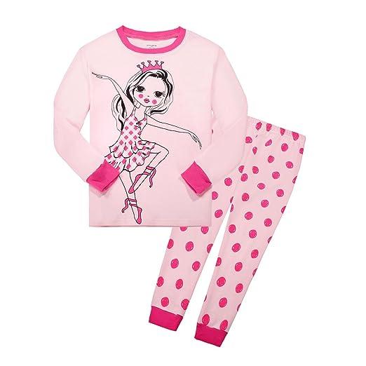 59b905634 Amazon.com  Huata Girls Pajamas Sleepwears 2 Piece 100% Cotton Kids ...
