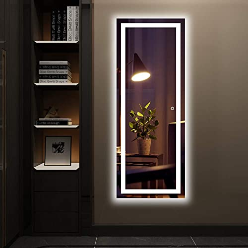 60×22 Wall Mounted Led Mirrors Full Length Dressing Mirror Whole Body Mirror Bedroom Bathroom Living Room Backlit Mirrors LED Vanity Mirror