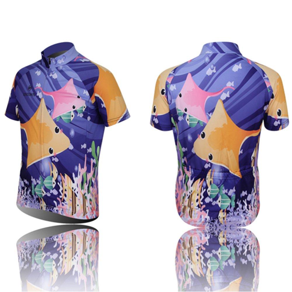 f0af14922 LPATTERN Short Sleeve Children Kids Boys  Cycling Jersey Set Top Pants  Shorts Bibs (3D Padded Shorts)