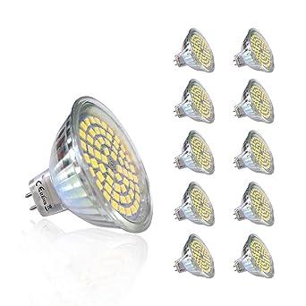 10 piezas 220V 5W GU5.3 430 lm Blanco Fresco MR16 LED empotrada iluminación 6000K