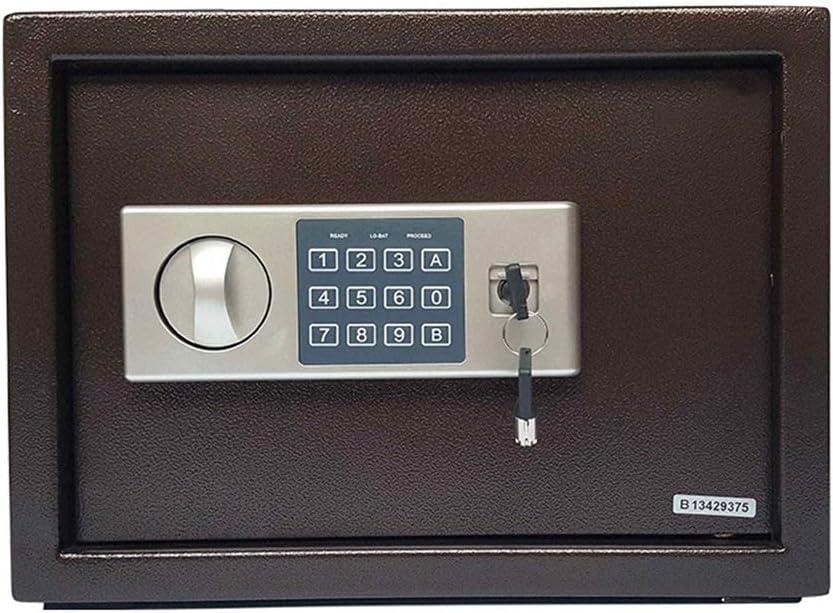 金庫 電子スチール耐火キーパッド付きのロックボックスセキュリティ金庫デジタル金庫のお金、宝石類を保護するために 金庫 テンキー式 (Color : As picture, Size : 35x20x25cm)