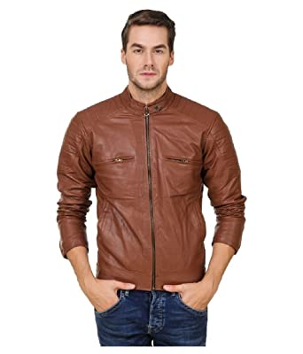 2e7590510 Leather Retail Coffee Color Faux Leather Biker Jacket