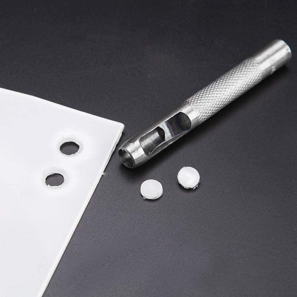 DXLing 10 Pi/èces Poin/çon Creux en Acier Rond 1 mm /à 10 mm Creux Poin/çon en Cuir Outils de Perforation de Trou Creux de Cuir pour Bande de Montre Ceinture de Joint Chaussure Tissu V/êtements en Toile