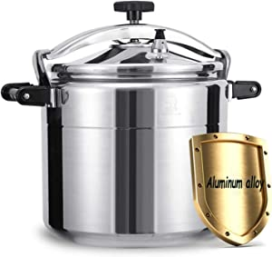9-50L commercial aluminum alloy pressure cooker, large capacity thickened explosion-proof pressure cooker for home hotel canteens and schools, can be used in kitchens, hotels, restaurants