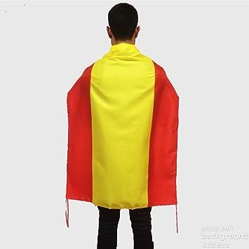 Bandera de España sin escudo para uso exterior en balcón | Bandera española de buena calidad mediana y de poliéster con medidas 100x70 cm apropiada también para uso interior: Amazon.es: Deportes y