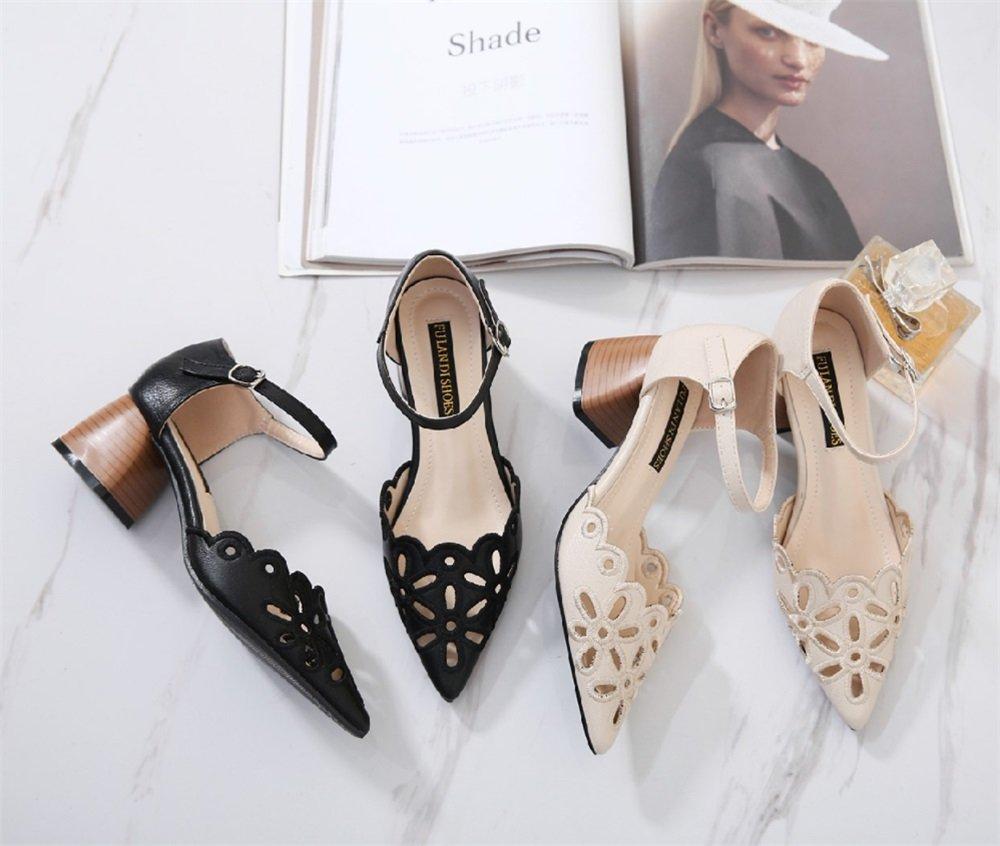 TMKOO TMKOO TMKOO Neue Frauen Sandalen 2018 Mode Atmungsaktiv Freizeitschuhe Hohl Raue Sandalen Damen Arbeitsschuhe (Schwarz Aprikose) (Farbe   Beige Größe   38) ec8b1d