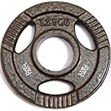 FXR Sports Tri Grip Cast Iron Olympic Weight Plates Discs - 50mm Hole - 1.25kg -25kg Available