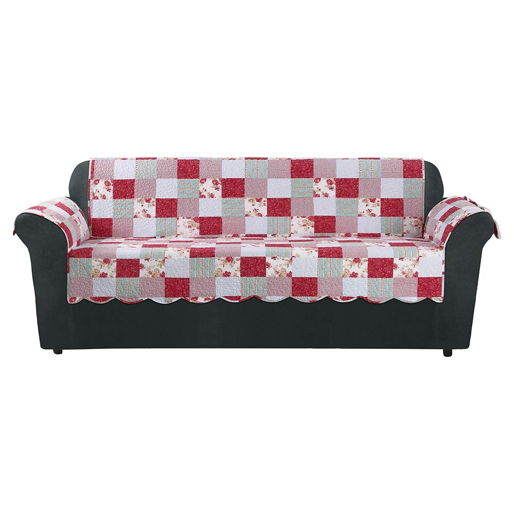 SureFitHeirloom Quilted Sofa Pet/Slipcover with Arms, Cottage Patchwork