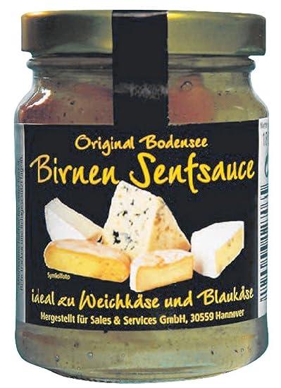 Salsa de mostaza Pera 180g ideales para Queso de Pasta Blanda y Queso Azul