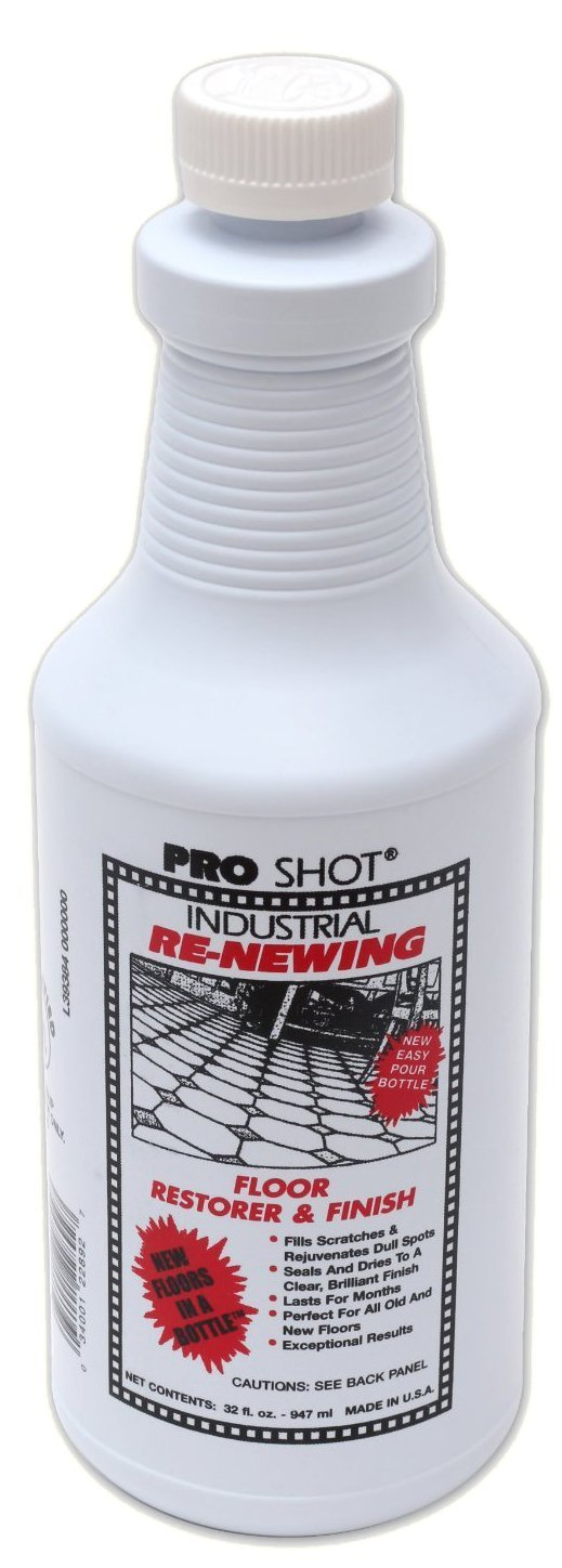 3 PACK Pro Shot Industrial Re-Newing Floor Restorer And Finish (96 oz. - 32 oz. each Bottle) Petrochemical-Free Formula by Pro Shot (Image #1)