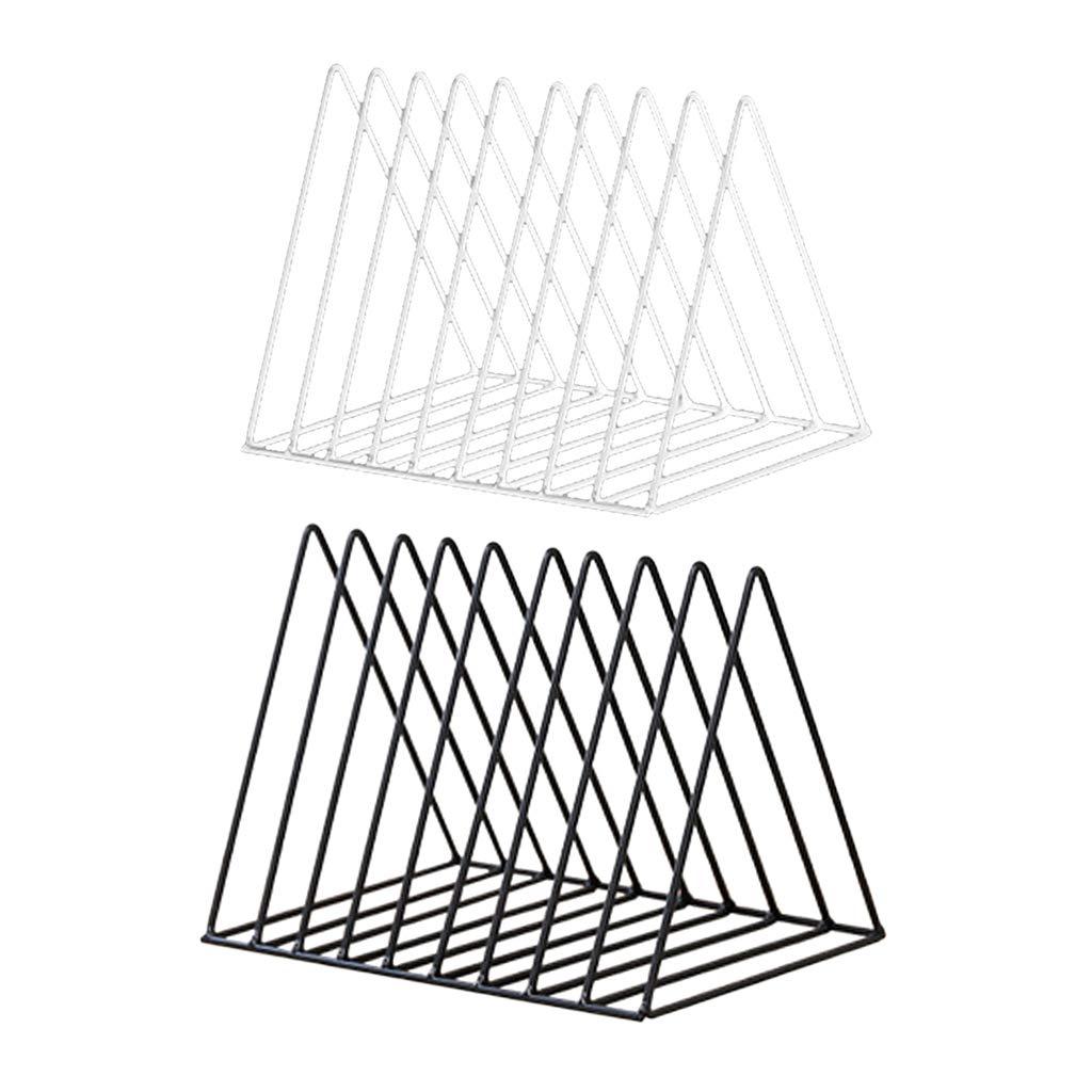 Fityle Set 2pc Desktop Book Shelves Bookshelf for Magazine Newspaper File Organizer