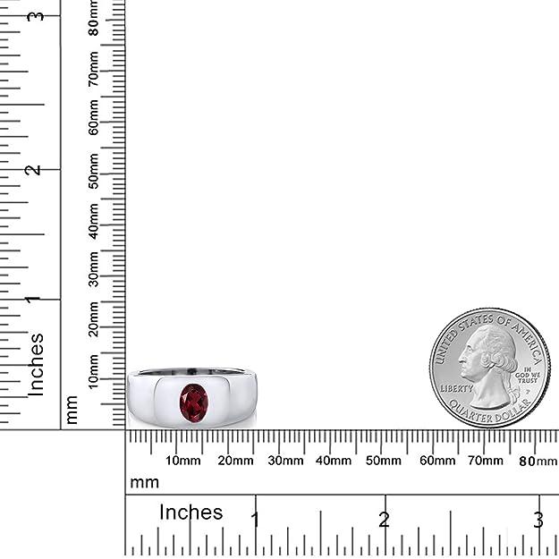 Amazon.com: 1.40 Ct ovalada, color rojo natural VS Rhodolite ...