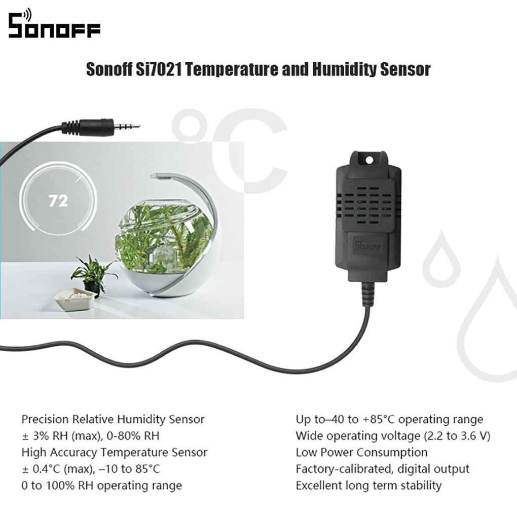 Royalr Sonoff Sensor Si7021 la sonda de Temperatura del Sensor de Humedad M/ódulo Monitor de Alta precisi/ón para Sonoff TH10 y Sonoff Th16