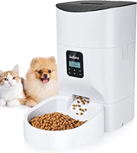 Balimo 7L Automatic Cat Feeder Food Dispenser for Dogs and Cats –Features:High Capacity, Distribution Alarms, Portion Control, Voice Recording, Timer Programmable, Up to 1-4 Meals per Day