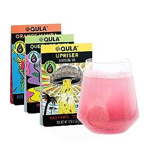 QULA Kombucha Drink Tabs - Keto-Friendly Water Enhancer (Trial Variety Pack) Transform water into delicious KOMBUCHA with probiotics, no added sugar, under 5 calories (3 drinks)