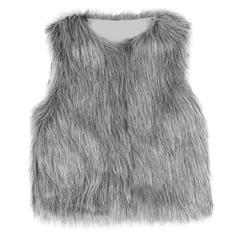 Winter Girl Waistcoat,Fineser Lovely Toddler Kids Baby Girl Sleeveless Warm Faux Fur Waistcoat Thick Coat Outwear Clothes