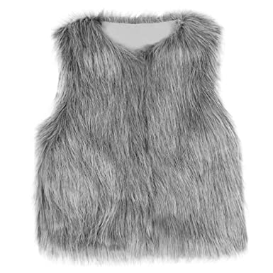 f73b2261 Amyline Toddler Kids Baby Girl Faux Fur Gilets, Waistcoat Thick Coat  Outwear Winter Warm Baby Clothes Girls Sleeveless Jacket for 1-6 Years:  Amazon.co.uk: ...