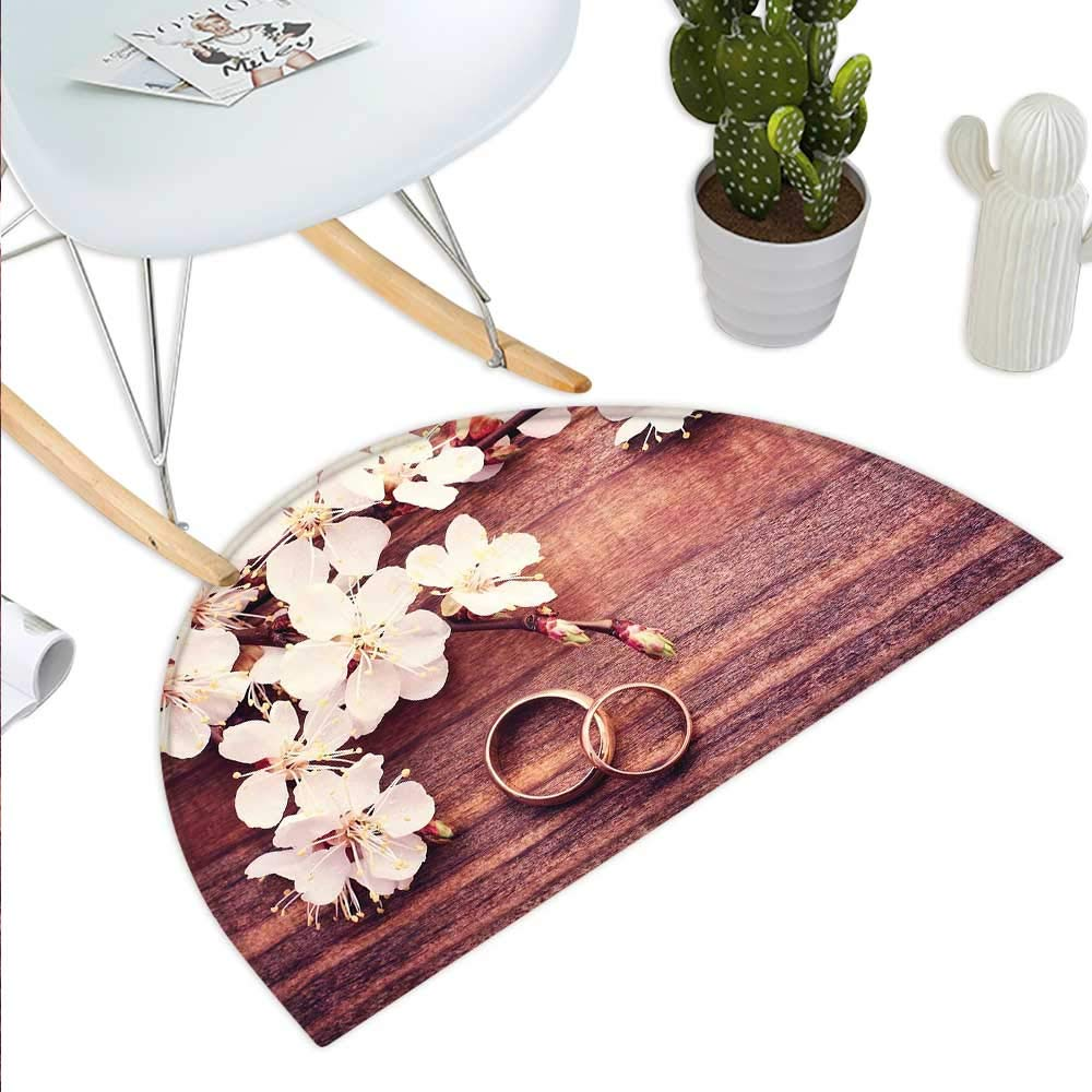 Western Decor Semicircular CushionAmerican West Rodeo White Straw Cowboy Hat with Lariat Leather Boots on Rustic Barn Wood Entry Door Mat H 39.3 xD 59