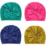 Fascigirl 4PCS Newborn Turban Hat Creative Bow Turban Cap Multi-layer Beanie Hospital Hat