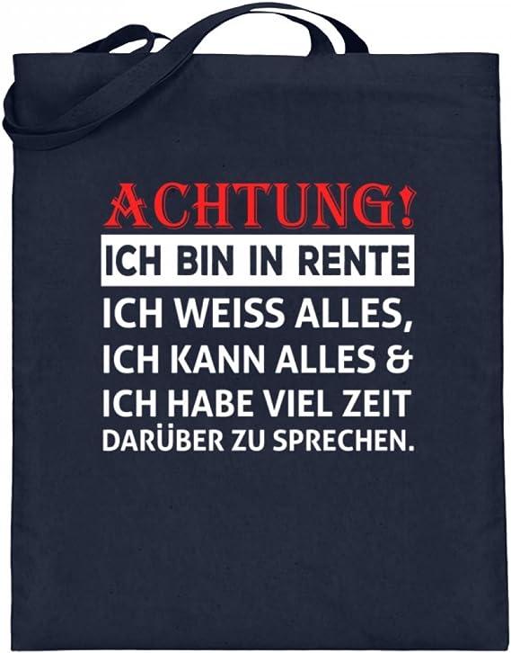 ALBASPIRIT Achtung Ich Bin In Rente Rentner Spruch T-Shirt