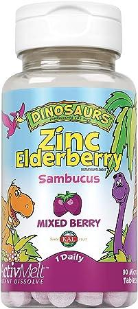 Kal 5 Mg Berry Zinc Elderberry Tablets, 90 Count