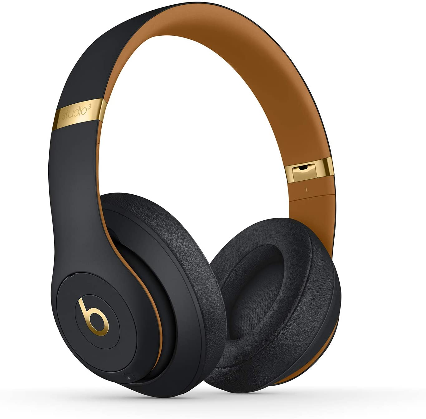 Beats Studio3 Wireless Noise Cancelling Over-Ear Headphones - Apple W1 Headphone Chip, Class 1 Bluetooth, 22 Hours of Listening Time, Built-in Microphone - Midnight Black (Latest Model)