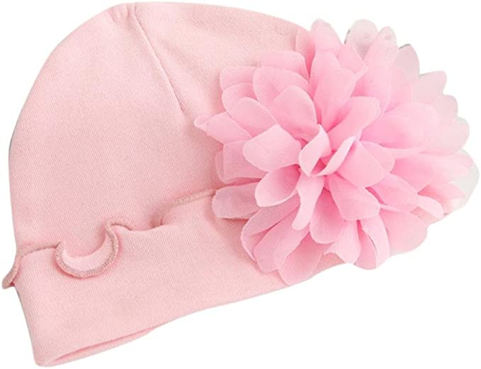 Dragon868 Gorras para bebé, Suave Nuevo bebé recién Nacido niñas Sombreros de algodón de Flores (Blanco): Amazon.es: Ropa y accesorios