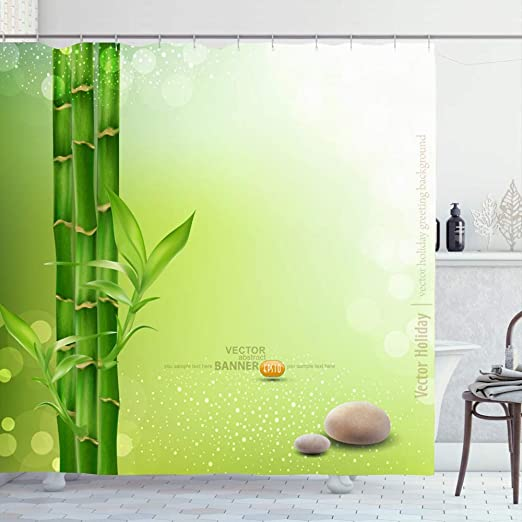 Tracery Wall Flower Waterproof Fabric Home Decor Shower Curtain Bathroom Mat