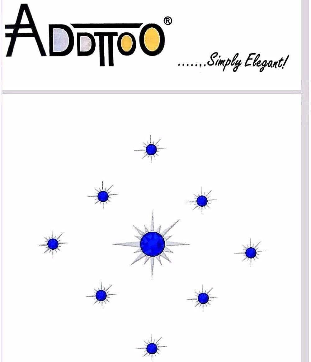 addttoo Temporary Tattoo Star bases y azul Cristales hecho con SWAROVSKI ELEMENTS *