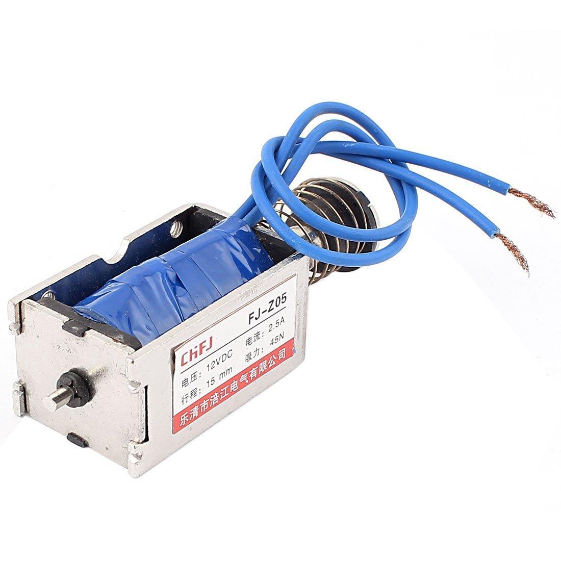 sourcingmap/® DC 12V Push Pull Type Tubular Linear DC Solenoid Electromagnet Magnet XRN-19//42TL