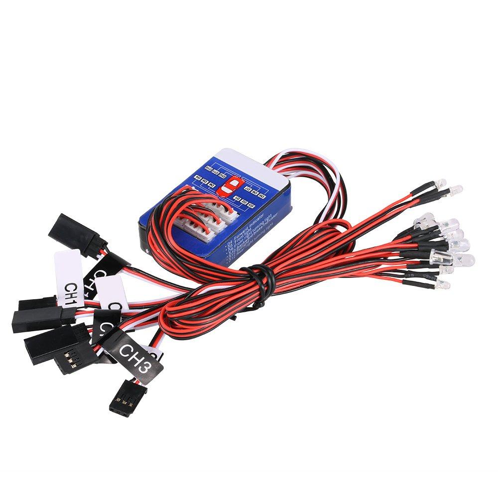 Goolsky 12 Led Lighting System Kit Steering Brake Smart Simulation High Voltage Yard Training Simulator Flash Lights For 1 10